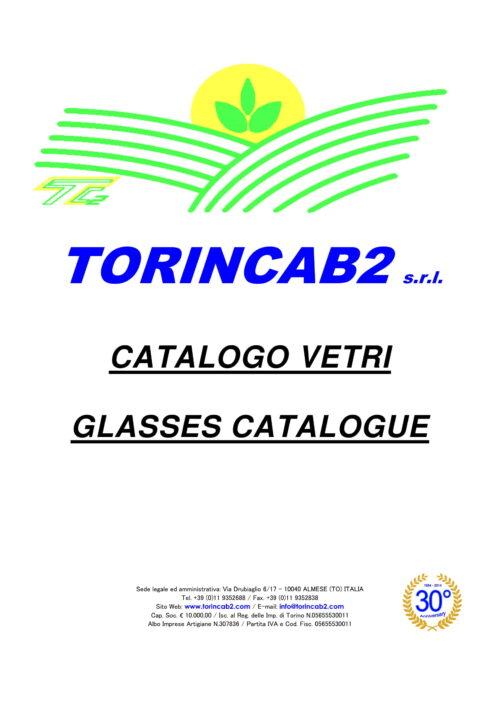 Catalogo Vetri - Glasses Catalogue